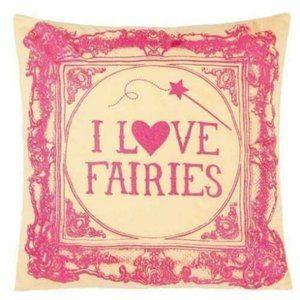 """Hiccups """"I Love Fairies"""" 40cm x 40cm Cushion"""